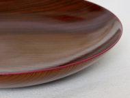 fuchidori大皿牡丹色の縁の拡大画像