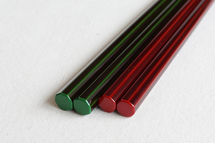 お箸溜の緑・赤
